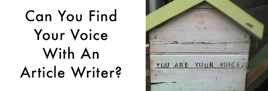 Can an article writer help you Find Your Voice?