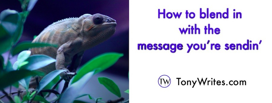 How to blend in with the message you're sendin'