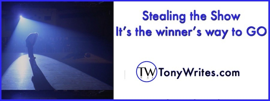 Stealing the show - it's the winner's way to go